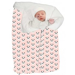 Saco capazo universal bebe invierno panda rosa