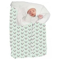 Saco bebé para dormir y capazo panda mint