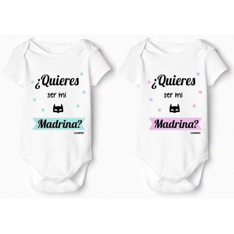 bodys bebé personalizado con frases divertidas Madrina