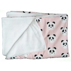 manta para bebé panda rosa