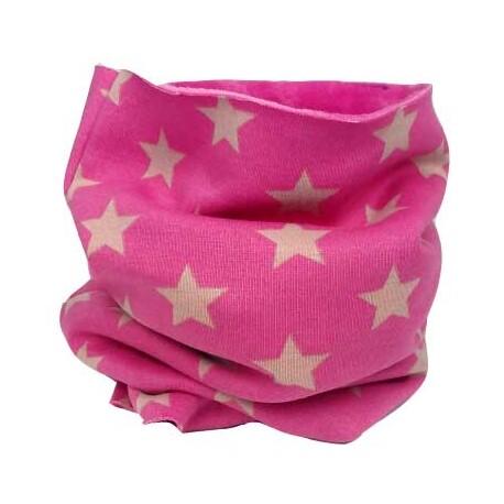 Cuello bebé bufanda rosa estrellas