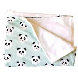 manta para bebé panda mint