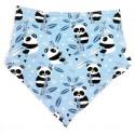 Bandana para bebé oso panda y bambú