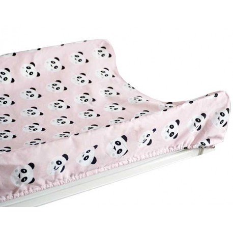 Funda cambiador bebe 80x50 panda rosa