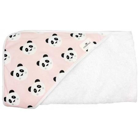 Comprar capa de baño para bebé panda rosa