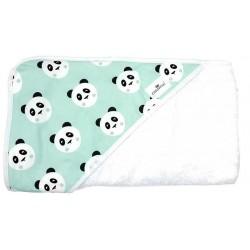 Comprar capa de baño para bebé panda mint