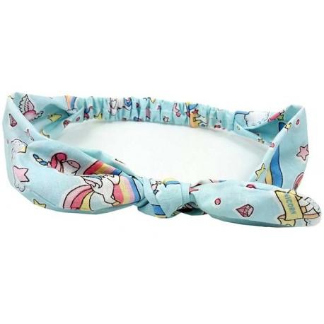 turbante para bebé Unicornio azul