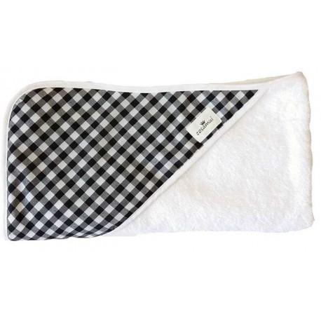 Capa de baño para bebé vichy negro