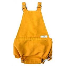 Pelele ranita para bebé en color mostaza