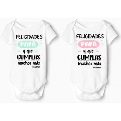 bodys bebé original Felicidades papá