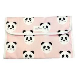 Portadocumentos oso panda rosa