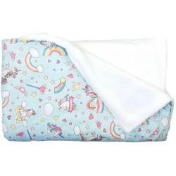 manta para bebé unicornio azul