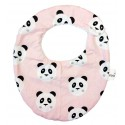 Babero para bebé panda rosa