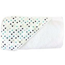 Toalla capa de baño para bebé puntitos