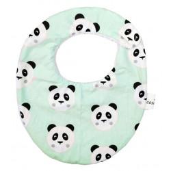 Babero para bebé panda mint