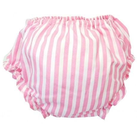 Cubrepañal para bebé franjas rosas
