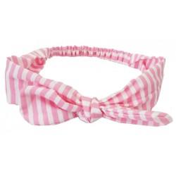 turbante para bebé franjas rosas
