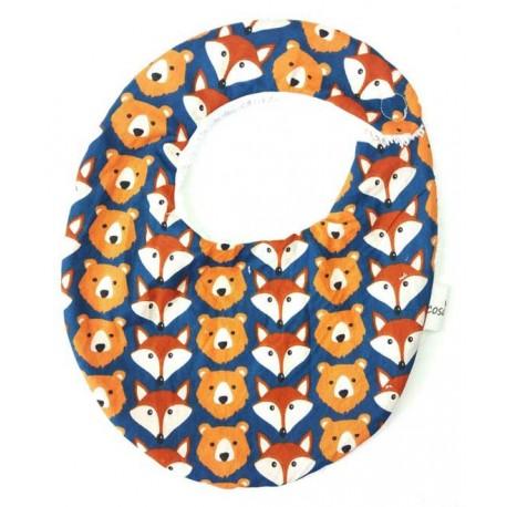 Babero para bebé osos zorros
