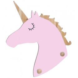 Perchero unicornio color rosa