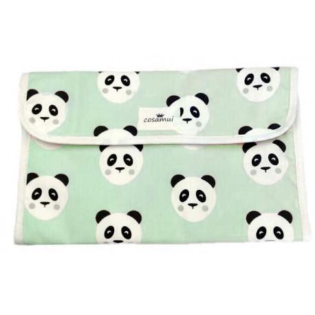 Portadocumentos oso panda mint