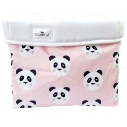 cesto de almacenaje oso panda rosa