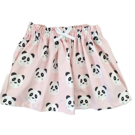 Falda bebé panda rosa