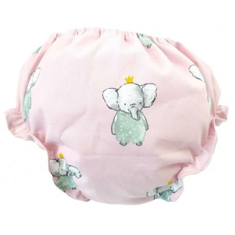 Culotte braguita bebé elefant rosa