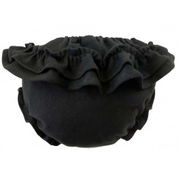 Culotte braguita punto con volante negro