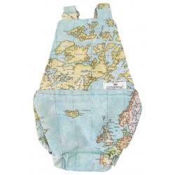 Peto bebé espalda abierta Mapamundi
