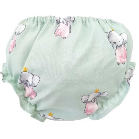 Culotte bebé elefante verde mint
