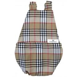 Peto bebé espalda abierta escoces marron