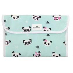 Portadocumentos bebé panda hippy
