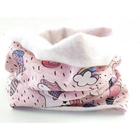 Cuello bebé unicornio rosa