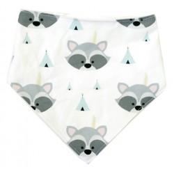 Bandana para bebé mapaches tipi