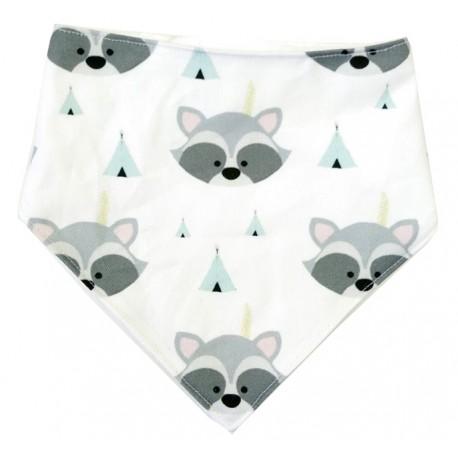 Bandana para bebé mapaches