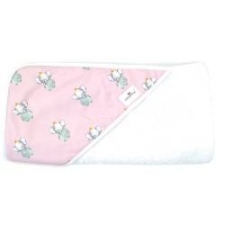 Toalla capa de baño elefante rosa