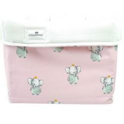 cesto de almacenaje elefante rosa