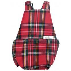 Peto bebé espalda abierta escocés rojo