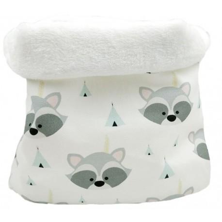 Cuello bebé mapaches tipi