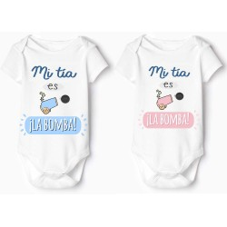 """body para bebe """"mi tía es la bomba"""""""