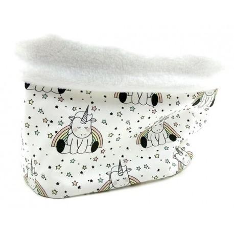 Braguita polar cuello bebé unicornios