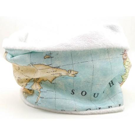 Braguita polar cuello bebé mapa mundi