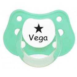 Chupete personalizado con estrellas verde