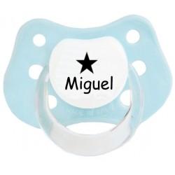 Chupete personalizado nombre y estrellas azul