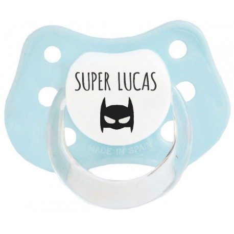 Chupete personalizados Super Héroe Azul