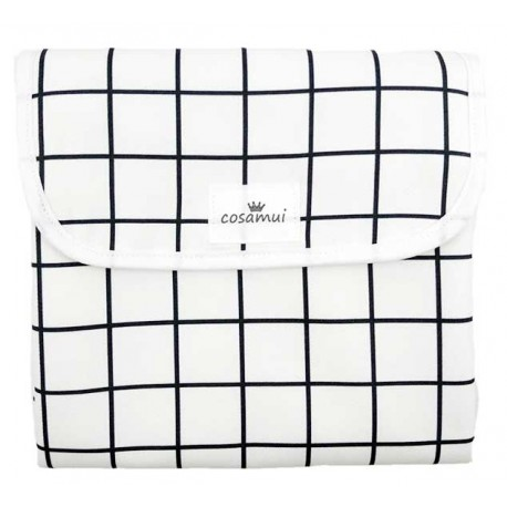Cambiador plegable impermeable black and white