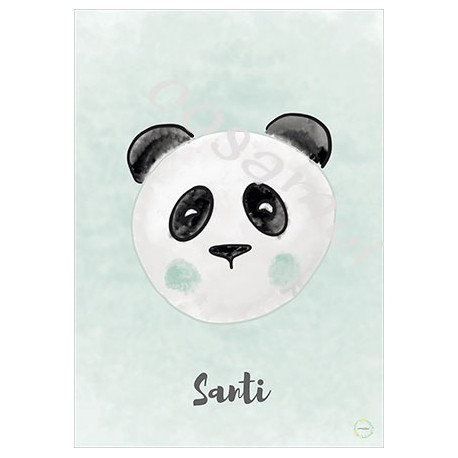Laminas decorativas panda mint
