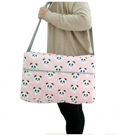 Bolso carrito coche oso panda rosa