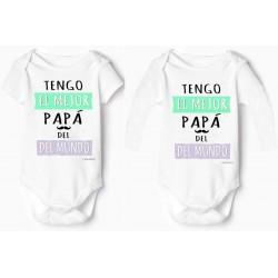 body bebé personalizado tengo el mejor papa del mundo