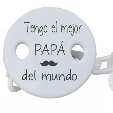 Sujetachupetes Mejor papá del mundo